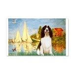 Sailboats / Eng Spring 20x12 Wall Decal