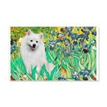 Irises / Eskimo Spitz #1 20x12 Wall Decal
