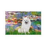 Lilies / Eskimo Spitz #1 35x21 Wall Decal