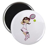 Cute Little Tennis Girl Magnet