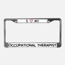 I Love Occupational Therapist License Plate Frame