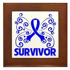Colon Cancer Whimsy Framed Tile