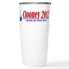 Clooney for President 2012 Travel Mug