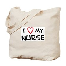 I Love Nurse Tote Bag