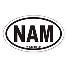 NAMIBIA NAM Euro Oval Decal