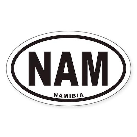 NAMIBIA NAM Euro Oval Sticker