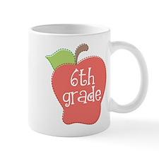 6th Grade Teacher Apple Mug