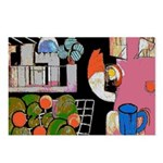 Jazz Singer on Abstract Postcards (Package of 8)
