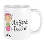 6th Grade Teacher Present Mug