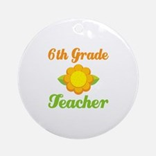 6th Grade Year End Gifts Ornament (Round)
