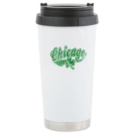 Chicago Irish Stainless Steel Travel Mug