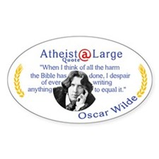 Oscar Wilde Quote Bible Harms Decal