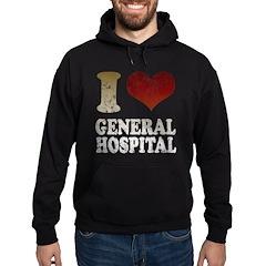 I heart General Hospital Hoodie (dark)
