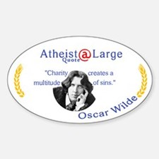 Oscar wilde Quote Charity Sins Sticker (Oval)
