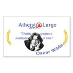 Oscar Wilde Quote Charity Sins Sticker (Rectangle)