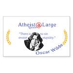 Osacr Wilde Sin Stupidity Sticker (Rectangle)