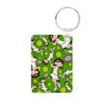 Cute Tennis Girl Patterned Aluminum Photo Keychain