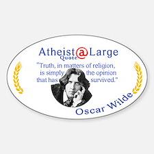 Oscar Wilde Religion Opinion Decal