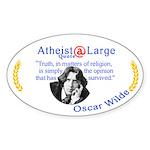 Oscar Wilde Religion Opinion Sticker (Oval)