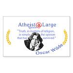 Oscar Wilde Religion Opinion Sticker (Rectangle)