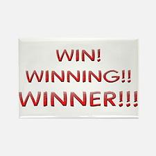 Helaine's Win Winning Winner Rectangle Magnet
