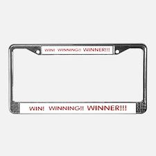 Helaine's Win Winning Winner License Plate Frame