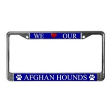 Blue We Love Our Afghan Hounds Frame