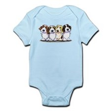Four PBGV Infant Bodysuit
