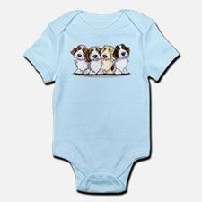 Four PBGV Infant Bodysuit