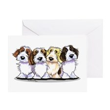 Four PBGV Greeting Card
