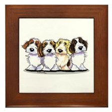 Four PBGV Framed Tile