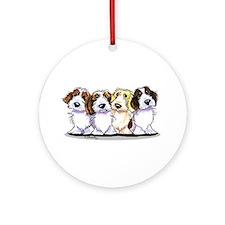 Four PBGV Ornament (Round)
