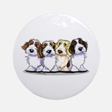 Four PBGV Ornament (Round)