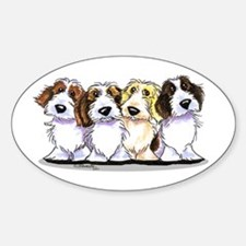 Four PBGV Decal