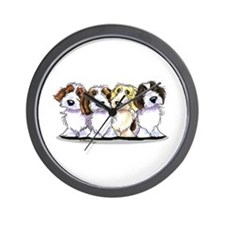 Four PBGV Wall Clock