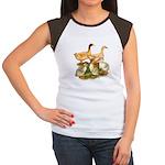 Buff Duck Family Women's Cap Sleeve T-Shirt