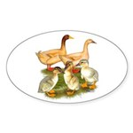 Buff Duck Family Sticker (Oval 10 pk)
