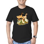 Buff Duck Family Men's Fitted T-Shirt (dark)