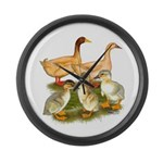 Buff Duck Family Large Wall Clock