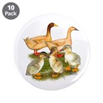 "Buff Duck Family 3.5"" Button (10 pack)"