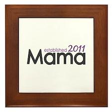 Mama Established 2011 Framed Tile