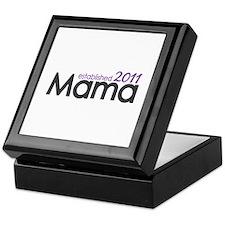 Mama Established 2011 Keepsake Box