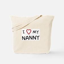 I Love Nanny Tote Bag
