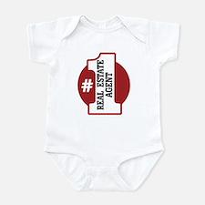 #1 Real Estate Agent Infant Bodysuit