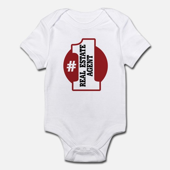#1 Real Estate Agent Infant Bodysuit