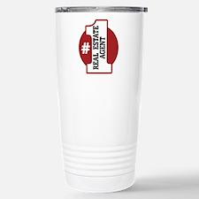 #1 Real Estate Agent Stainless Steel Travel Mug