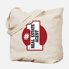 #1 Real Estate Agent Tote Bag