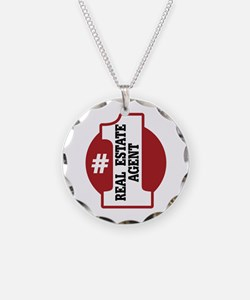 #1 Real Estate Agent Necklace