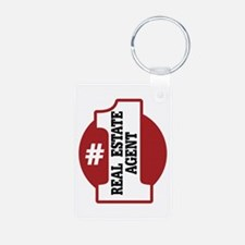 #1 Real Estate Agent Keychains