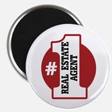 """#1 Real Estate Agent 2.25"""" Magnet (100 pack)"""